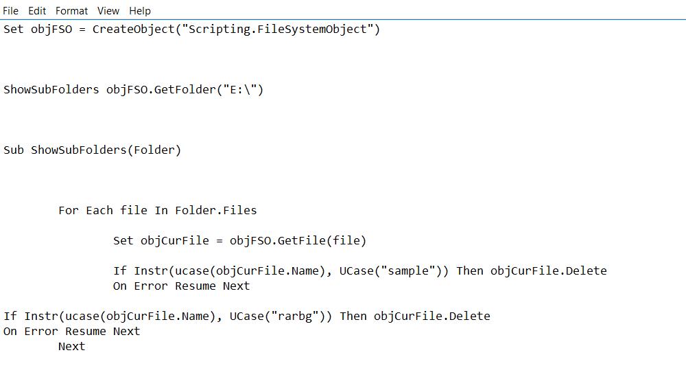 Windows Batch File to Remove Sample files – Justin Ide